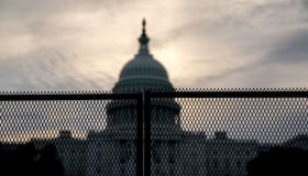 Security Fencing Installed Outside U.S. Capitol Ahead Of Justice For J6 Rally