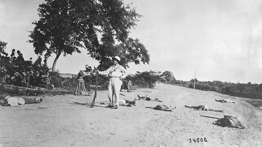 American Poses With Dead Haitian Troops
