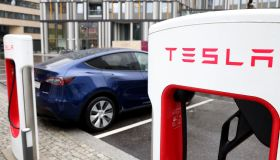 Tesla Inc. EV Supercharger Station in Berlin
