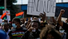 KENOSHA, WI - AUGUST 29: Demonstrators protest the police shoot